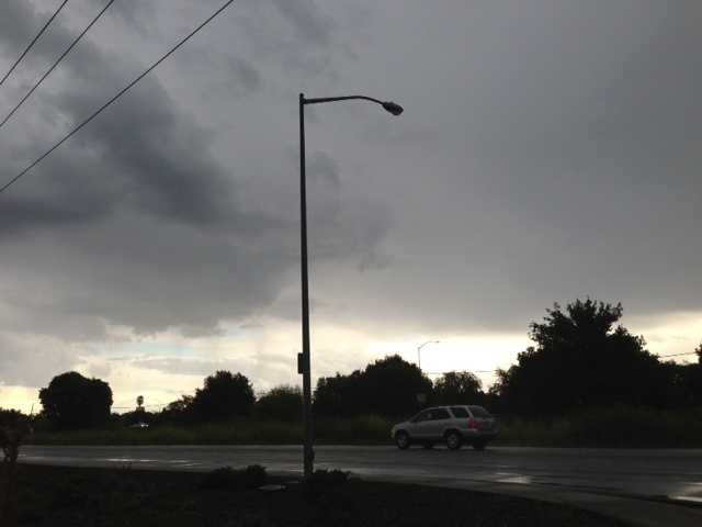In Davis, clouds and rain were the picture for drivers.