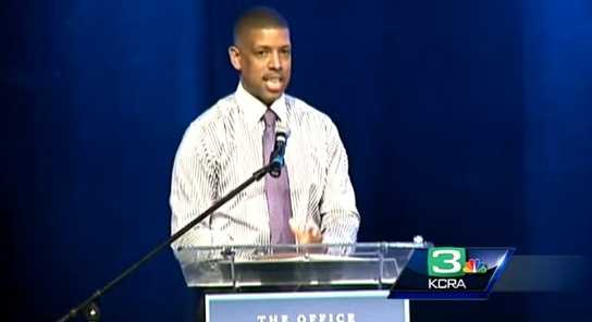 'A proud day for Sacramento'March 1, 2013 -- Following the State of the City address, Mayor Kevin Johnson submits a proposal to the NBA to keep the Kings in town, calling it a proud day for Sacramento.