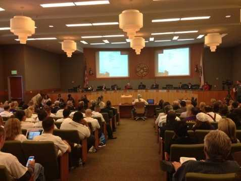 7-2March 26, 2013 -- After a 7-2 vote, the Sacramento City Council approves a public-private deal to build a new 18,500-seat arena and retail center downtown. Approval of the arena was Johnson's last step to keep an NBA team in Sacramento.