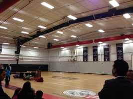 Basketball players, volleyball players and wrestler will be able to use the new NCAA gym in Stockton.