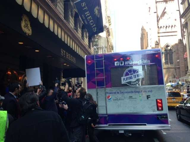 The Sacramento Kings Fan RV is in New York in support of keeping the Kings.