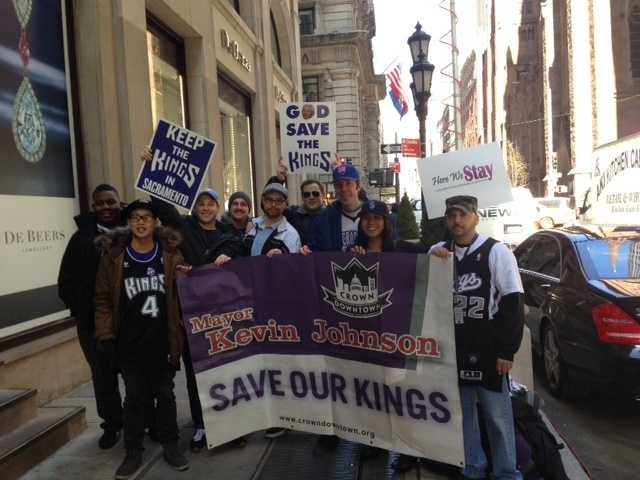 Sacramento fans traveled to New York to show their support for the Kings.
