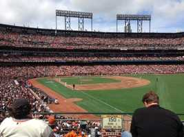 The Giants play the St. Louis Cardinals in their home opener at AT&T Park. (April 5, 2013)