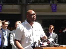 Former NBA player Mitch Richmond: Richmond, who played for the Kings from 1991 to 1998, is part of a group of local individual investors that has pledged to put up at least $1 million to buy the Kings.