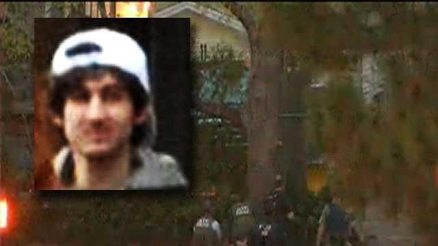 Dzhokhar Tsarnaev was taken into custody by police at approximately 8:45 p.m.