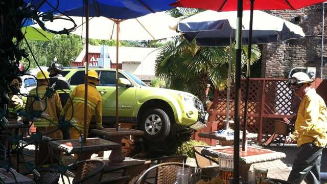 A KCRA Insider sent in this photo of a crash at Tio Pepe Mexican Restaurant in Auburn.