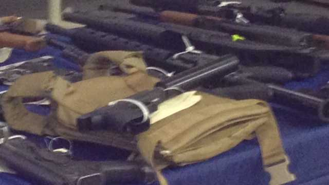 "A joint-agency operation called ""Operation Gideon"" netted 55 arrests and the seizure of dozens of weapons."
