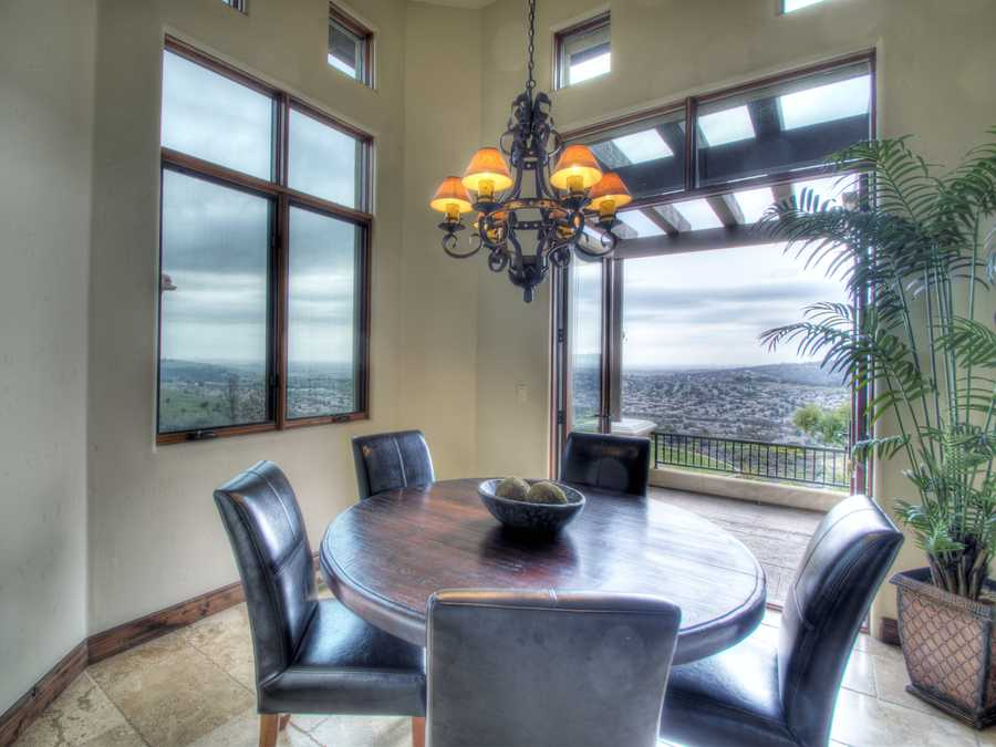 Here's a breakfast nook. Not too far away, you'll find a large walk-in butler's pantry.