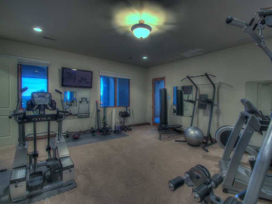 Along with the bonus room and library, the home also has this exercise room.