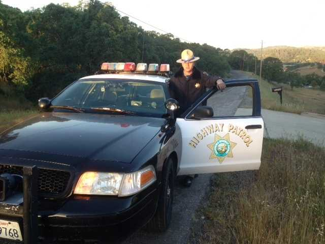 A California Highway Patrol officer was among about a 100 law enforcement authorities who patrolled the rural town Monday morning. Read full story