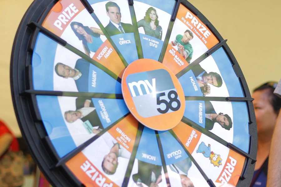 Team My58's brand new Prize Wheel makes its debut at Stockton Asparagus Festival