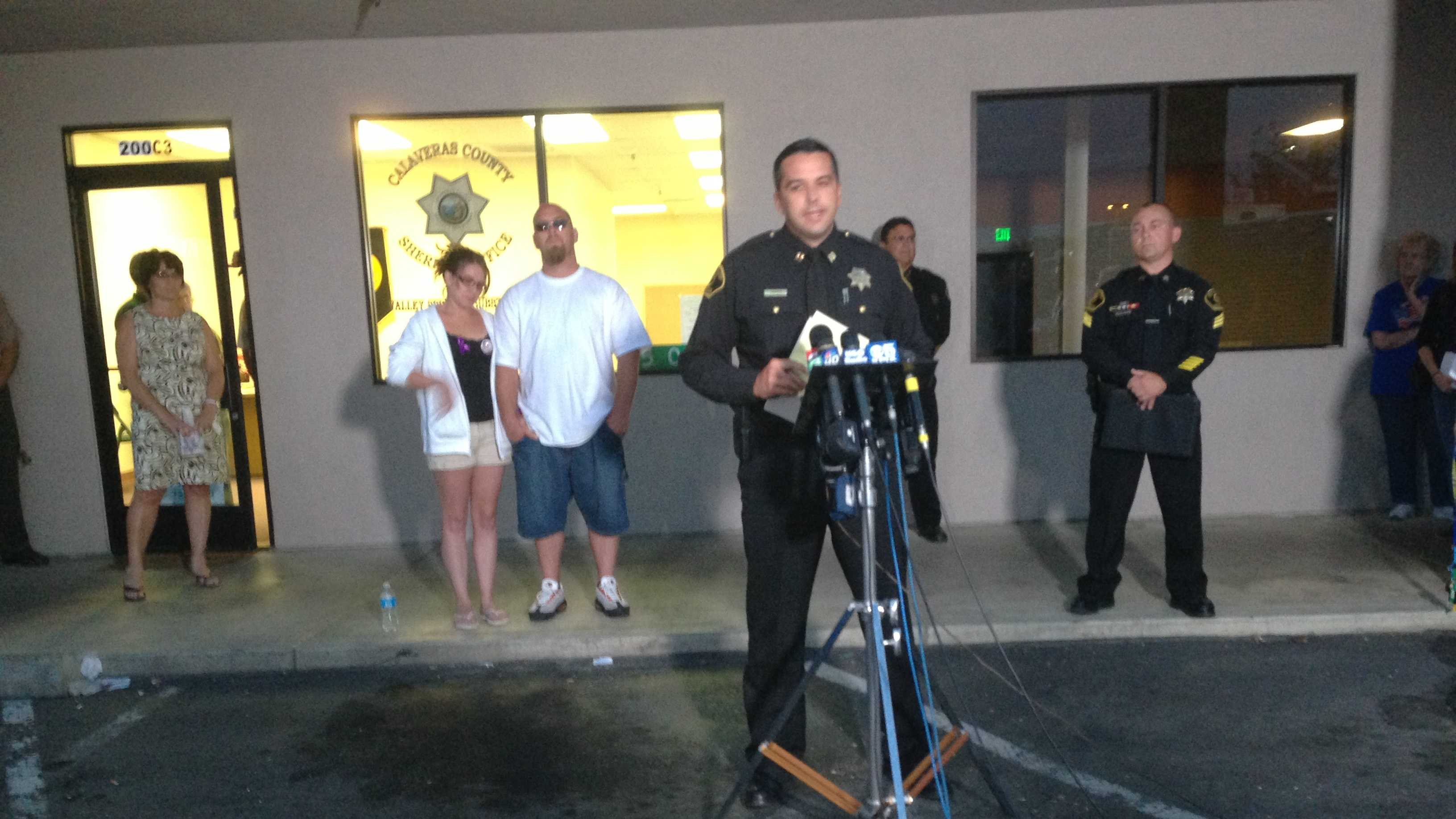 Calaveras County officials held a news conference on Monday night (April 29, 2013).