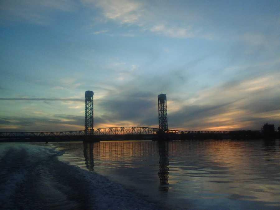 Now: Rio Vista Bridge, or the Helen Madere Memorial Bridge, spans across the Sacramento River.