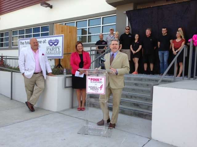 More than 20 Sacramento businesses and business leaders announced a new campaign called PINK the Boulevard on Tuesday. The campaign is meant to raise money for Susan G. Komen for the Cure and to bring awareness to Sacramento's Race for the Cure, scheduled for May 11.