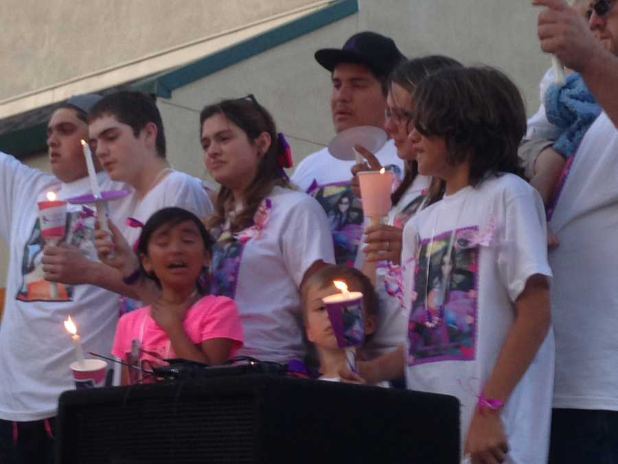 A candlelight vigil was held last Tuesday in memory of 8-year-old Leila Fowler, who was killed inside her family's Valley Springs home over the weekend (April 30, 2013).