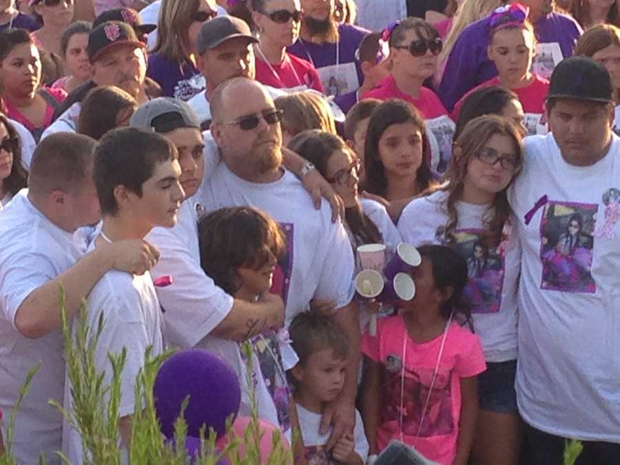 A candlelight vigil was held Tuesday in memory of 8-year-old Leila Fowler, who was killed inside her family's Valley Springs home over the weekend (April 30, 2013).