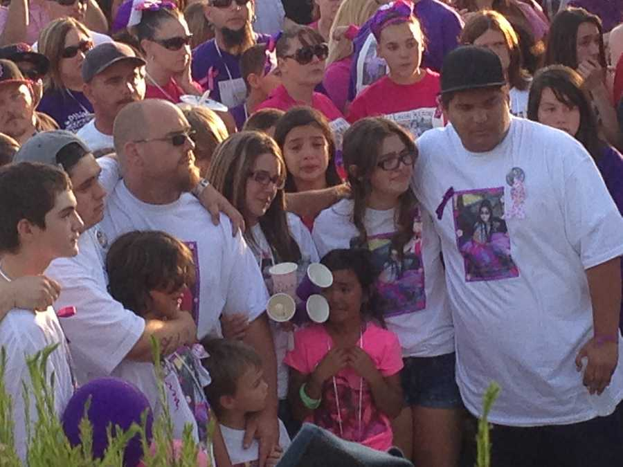 A candlelight vigil was held last month in memory of 8-year-old Leila Fowler, who was killed inside her family's Valley Springs home over the weekend (April 30, 2013).