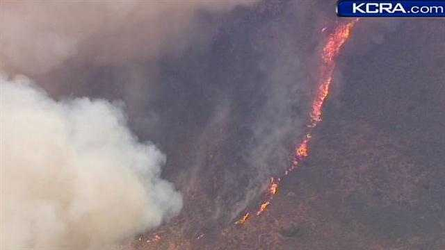 See photos of a fire at a farm in Camarillo: