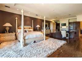 Here's a look inside one of the home's bedrooms.