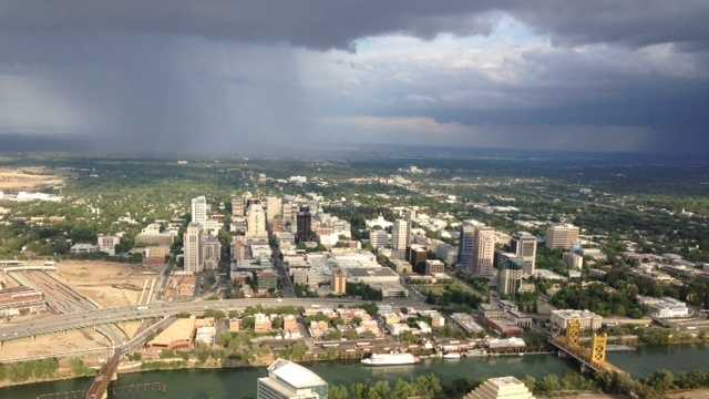 LiveCopter flies over the downtown Sacramento area (May 6, 2013).