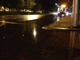 KCRA 3's Richard Sharp came across some huge puddles in the Sacramento area Monday night (May 6, 2013).