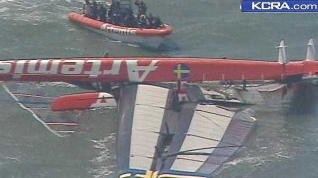 The Coast Guard says the crew has been accounted for.