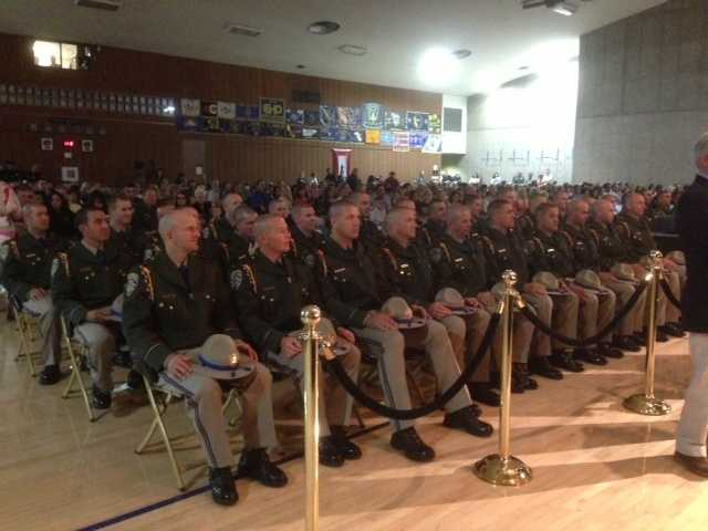 The California Highway Patrol held a swearing-in ceremony for 85 new officers at the CHP Academy in West Sacramento on Friday.