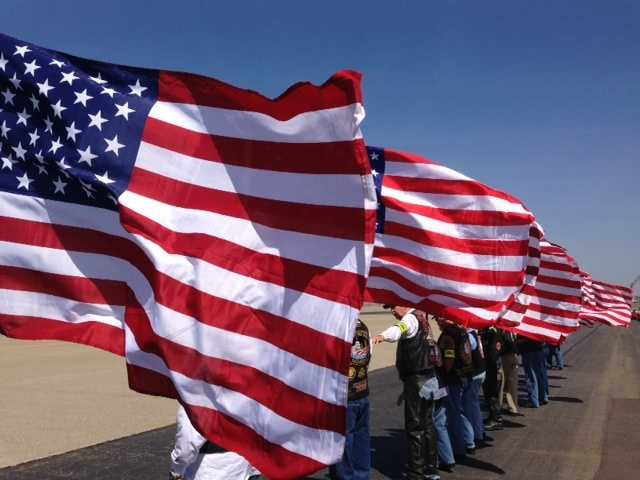 People gathered Friday at Beale Airforce Base to honor the life of Staff Sgt. Richard Dickson, of Rancho Cordova.