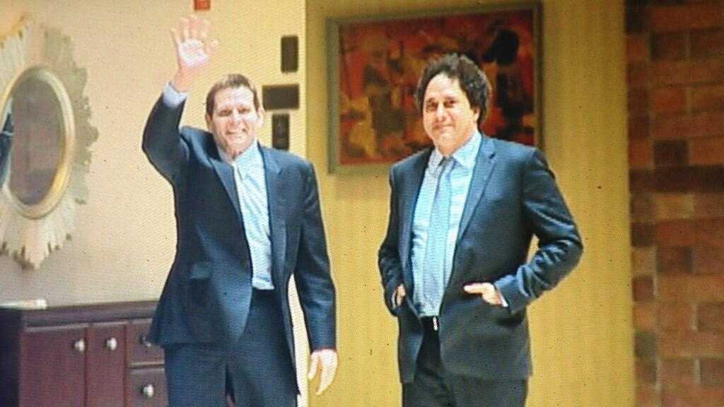 Joe and George Maloof, outside the NBA Board of Governors meeting Dallas on Wednesday (May 15, 2013).