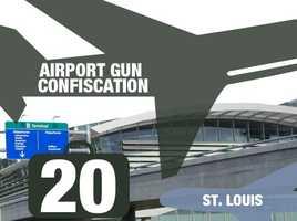 Airport: Lambert–St. Louis International AirportTotal guns: 20Percentage loaded: 90%