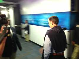 Vivek Ranadive enters Oracle Arena in Oakland on Thursday.