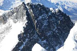 The team hoped to return to Camp 4 and then summit nearby Lhotse Peak and ski the prominent chute down the face. Exposed rock and ice cancelled the effort.