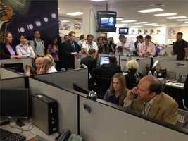 Members of the new Sacramento Kings' ownership group took calls from potential season ticket buyers. (May 23, 2013)