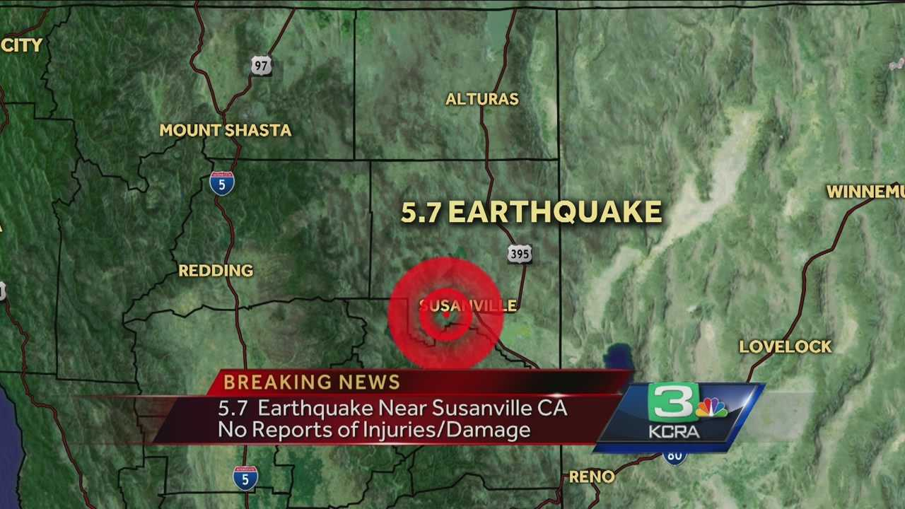 A 5.7-magnitude earthquake struck the Northern California region on Thursday.
