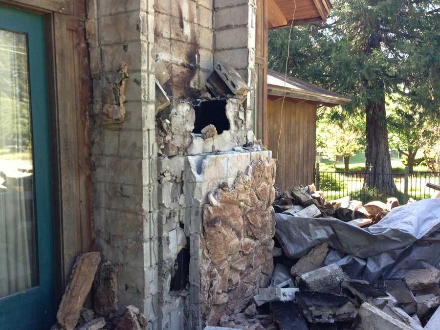 Chimney damage in Plumas County (May 24, 2013)