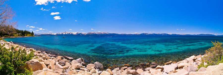 24. Lake Tahoe has a few nude beaches on the east side of the lake.