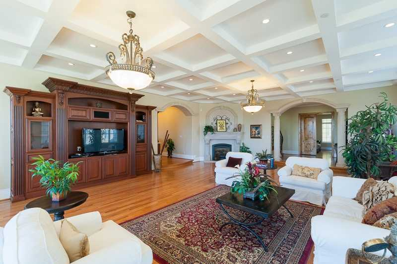 Living space is plentiful in this home.
