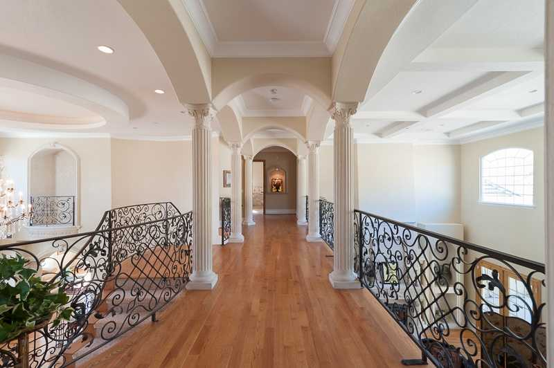 This home has eight bedrooms and 10 baths.