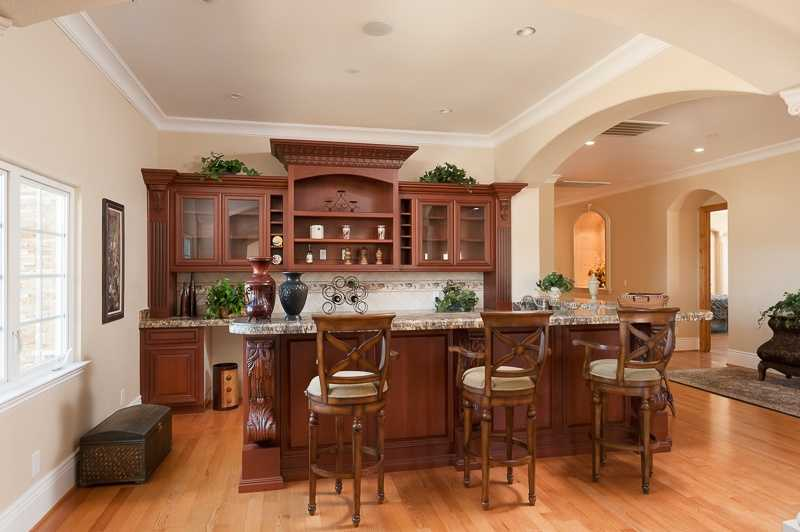 Check out this bar area inside the home.