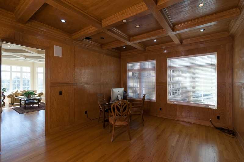 The home's study has solid oak from head to toe.