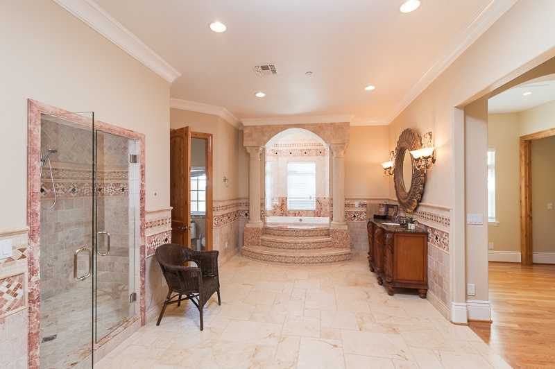 The home has more than one master bedroom.