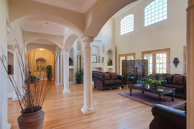 The home has plenty of unique architectural design elements throughout.