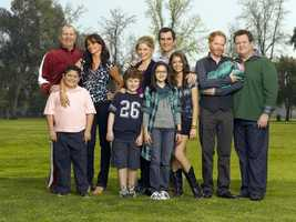 "Jay Pritchett (Ed O'Neill), Phil Dunphy (Ty Burrell), Mitchell Pritchett (Jesse Tyler Ferguson) and Cameron Tucker (Eric Stonestreet) from ""Modern Family"""