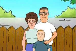 "Hank Hill (voiced by Mike Judge) from ""King of the Hill"""