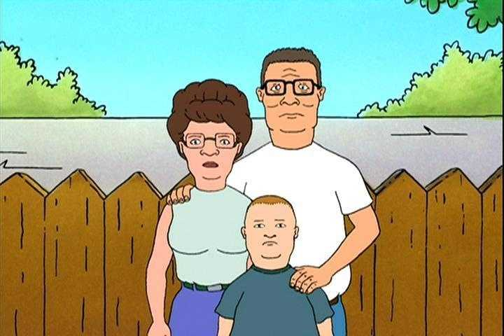 """Hank Hill (voiced by Mike Judge) from """"King of the Hill"""""""