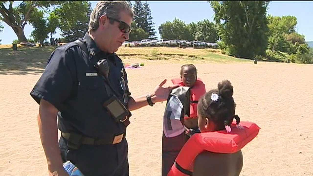 The Sacramento fire department explains why it is so important for children under 13 to wear life vests when in or on the Sacramento River.