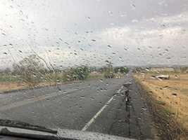Rain falls in Maxwell.