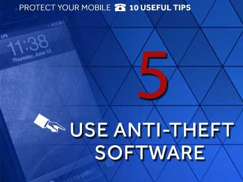 """Install anti-theft software: Android users can download """"Theft Aware"""" to track the phone by using GPS, but can also program the device to require a passcode to access all the phone's settings."""