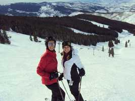 5. I learned to ski at a young age. My parents live in Vail and teach skiing in their retired years. This is me with my mom last winter. She's an amazing skier and I'm still trying to keep up!