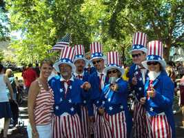 15. My favorite holiday is the Fourth of July. I love everything the day represents for our country and I love that it brings families together. This was my first Fourth in Sacramento. I swear, I didn't plan to match outfits with all these Uncle Sams!